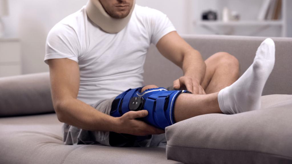 sleeping with a knee brace