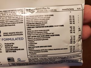 rem sleep microgel ingredients