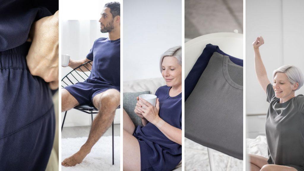 silk sleepwear for men and women